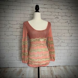 4 for $20 🖤 MARCIANO - Pink Metallic Knit Top
